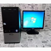 Компьютер и монитор для дома и офиса:Двухъядерный Intel. Гарантия