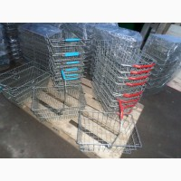 Корзинки для супермаркета металлические бу, корзины торговые б/у