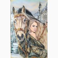 Картина автораРапунцель и Максимус-сухая пастель 90х50