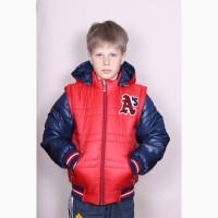 Весеняя Куртка-Жилетка Трансформер для мальчика разные цвета 128-152 р