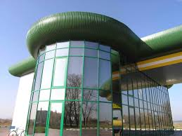 Фото 2. Остекление фасада. Фасадное остекление алюминием