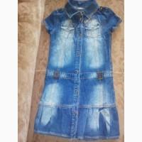 Продам джинсовое платье на рост 134 см