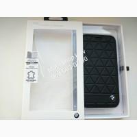 Кожаный чехол-книжка для iPhone X BMW Signature Embossed Hexagon Hard Leather, цвет черный