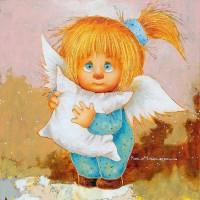 Картина копия маслом Чувиляевой Моя подушечка