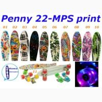 Пенни 22-MPS print penny светящиеся колеса скейт 56 см skate board