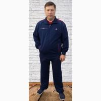 Soccer мужской трикотажный спортивный костюм батального размера