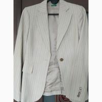 Продам элегантный женский костюм (пиджак+брюки), Benetton, хлопок. На рост 160см