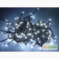 Светодиодная гирлянда LED-PLR-200-20M-240V (200 св, цвет белый тёплый, белый холодный)