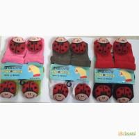 Детские махровые носки погремушки оптом