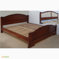 Двуспальная кровать с изножьем из массива дерева (ясень, дуб)