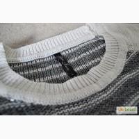 Пуловер свободного кроя в полоску