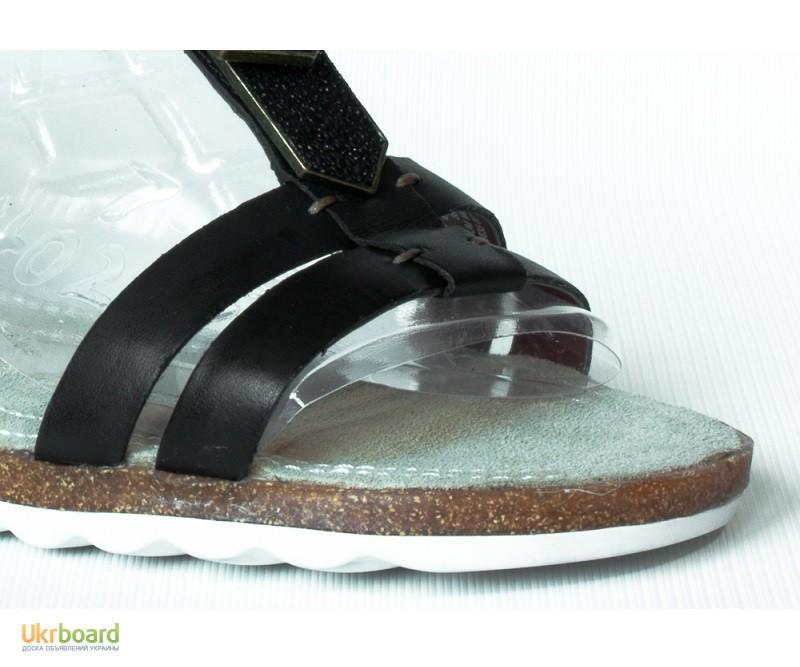 Фото 2. 245 мм Hush Puppies Bretta Jade кожаные женские сандалии черные