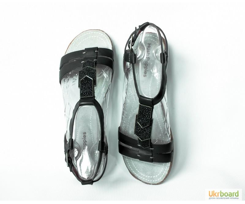 Фото 3. 245 мм Hush Puppies Bretta Jade кожаные женские сандалии черные