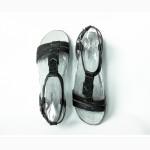 245 мм Hush Puppies Bretta Jade кожаные женские сандалии черные