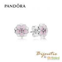 Серьги PANDORA цветение магнолии 290739PCZ
