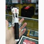 Монопод для селфи проводной автодержатель кот с хвостом Cat AUX Мультфильм