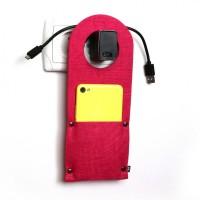 Карман д/зарядки телеф.на заклепке Digital Wool цветной