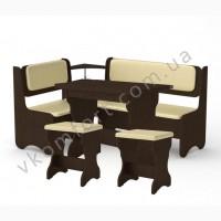 Кухонный уголок София (стол, 2 табурета, угловой диван)