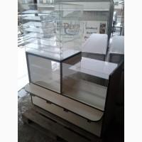 Торговая витрина ДСП, витрина под стеклом, прилавок б/у