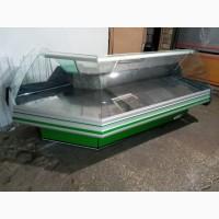 Холодильная витрина Cold угловая б.у, холодильный прилавок 2, 8 м, б/у