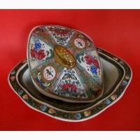 Старинное Китайское овощное блюдо Rose Medallion