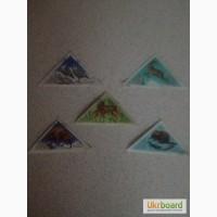 Продам коллекцию марок Заповедники-Треугольники СССР 1973г