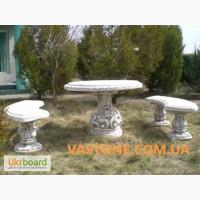 Скамейки парковые, лавочки садовые, скамьи бетонные, столы