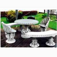 Скамейки парковые, лавочки садовые, скамьи бетонные, столы декоративные