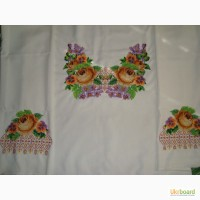 Вышитая бисером заготовка для туники/блузки