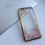 Чехол с цветами и стразами на iPhone 6/6s