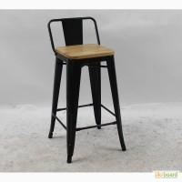 Полубарный стул Толикс Низкий Вуд, H-66см. (Tolix Low Wood, H-66cm) из металла купить Киев