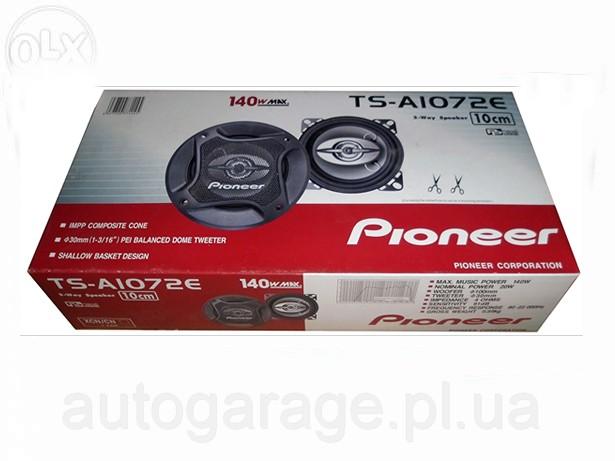 Фото 4. Автомобильная акустика колонки PIONEER TS-A1072E 10см (140Вт)
