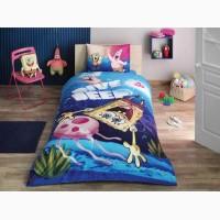 Детская постель губка боб подростковый комплект tac sponge bob dive простынь на резинке