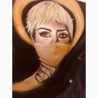 Рисую портрет по фото акрил масло акварель