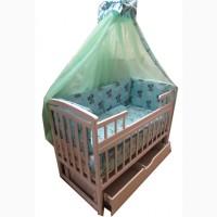 Акция! Комплект для сна. Новый. Кроватка маятник+ матрас кокос+постель
