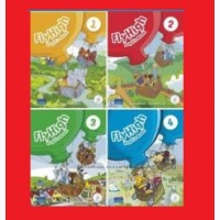 Новый комплект Fly High 1, 2, 3, 4 учебник+тетрадь. Есть все уровни. Fly High Украина