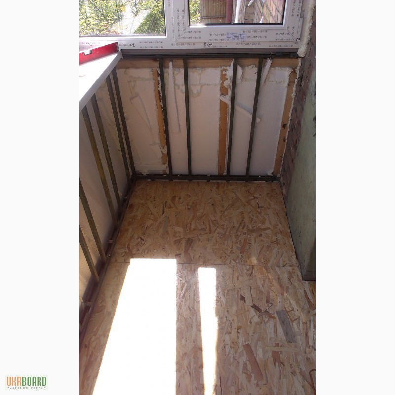 Фото к объявлению: утепление и обшивка балкона. вынос. франц.