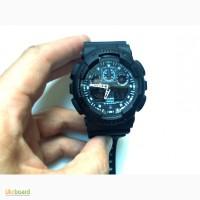 Часы наручные Casio G-Shock GA-100 черные водо-ударо-стойкие
