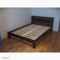 Двуспальная кровать из сосновых пород дерева