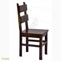 Стільці з натурального дерева Карат плюс з твердим сидінням