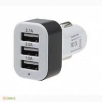 Продам: 3 USB мощная универсальная зарядка с индикацией в прикуриватель