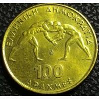 Греция 100 драхм 1999 год ЮБИЛЕЙНАЯ