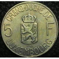 Люксембург 5 франков 1962 год СОСТОЯНИЕ