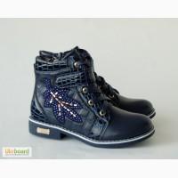 Демисезонные ботинки для девочек GFB арт.G232 темно-синий 32-37р