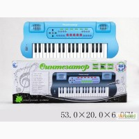 Синтезатор от сети, 37 клавиш, микрофон, в кор. 53х20х6 арт. HS3710C