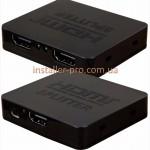 Ультратонкий сплиттер 1х2 USB-питание HDMI 1080р 1.4 до 20 метров