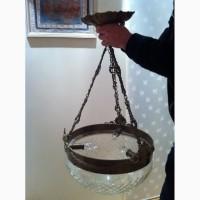 Продам старинную антикварную голландскую бронзовую люстру