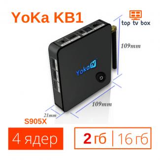 Купить KB1 2Gb YoKa Android 6 Smart Tv box приставка аналог X96 mini S905X 4K Цена
