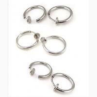 Cерьги 2шт кольцо обманка для пирсинга 10 мм (носа, ушей, губ). Украшения для пирсинга