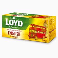 Чай черный Loyd English Breakfast пакетированный 20 шт х 1.7 г